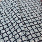 Furniture fabric printed with blue mosaic