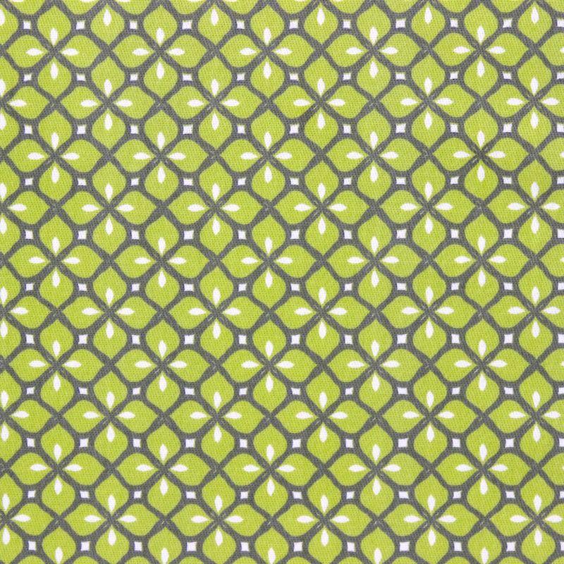 Tissu d'ameublement à motif mosaique vert