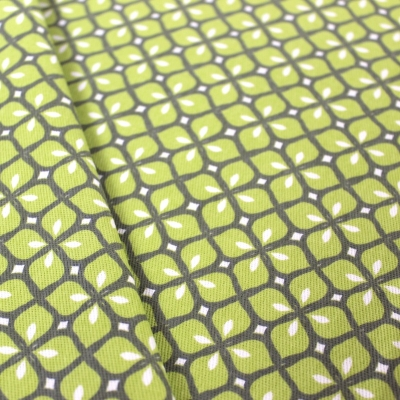 Furniture fabric printed with green mosaic