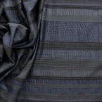 Gestreepte kledingstof nachtblauw en zwart