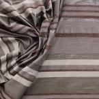 Tissu vestimentaire à rayures en matières mélangées marron