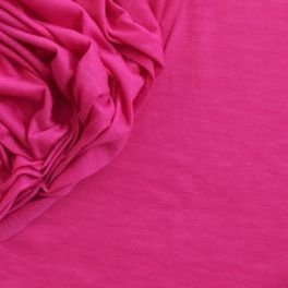 Fine jersey fabric creased and flamed fuschia