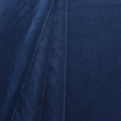 Tissu d'ameublement en velours lisse bleu saphir
