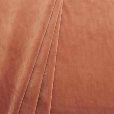 Tissu d'ameublement en velours lisse rose beige