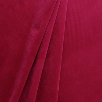 Tissu d'ameublement en velours lisse rose fuschia