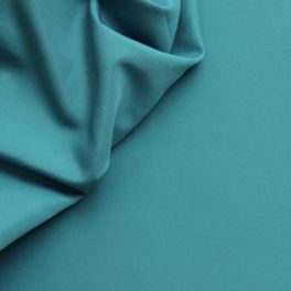 Polyester fabric in wide width plain turquoise