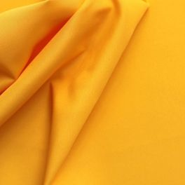 Polyester fabric in wide width plain yellow
