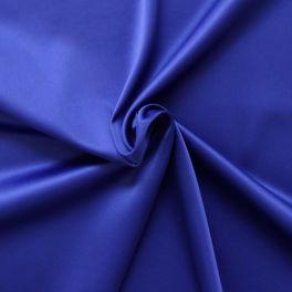 Satin extensible bleu roi