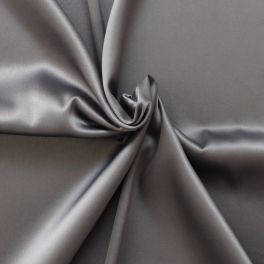 Satin extensible gris acier