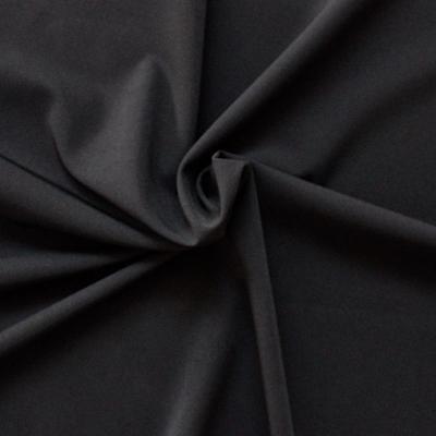 Tissu léger en polyester noir