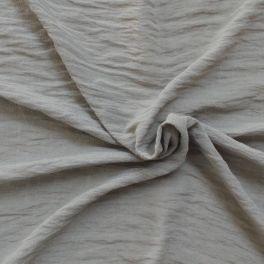 Crepe stof parelgrijs