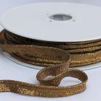 Lurex paspelband oud goudkleurig
