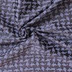 Tissu jacquard à motif pied de poule bleu