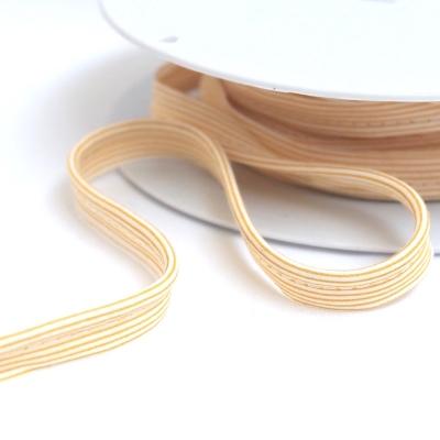 Passepoil à lignes jaunes sur fond blanc