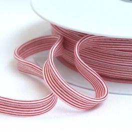 Passepoil ligné rouge et blanc
