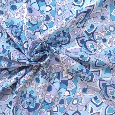 Tissu en coton à motif psychédélique seventies