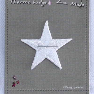 Iron-on patch white star