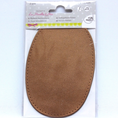 Iron-on reinforcement patches simili copper