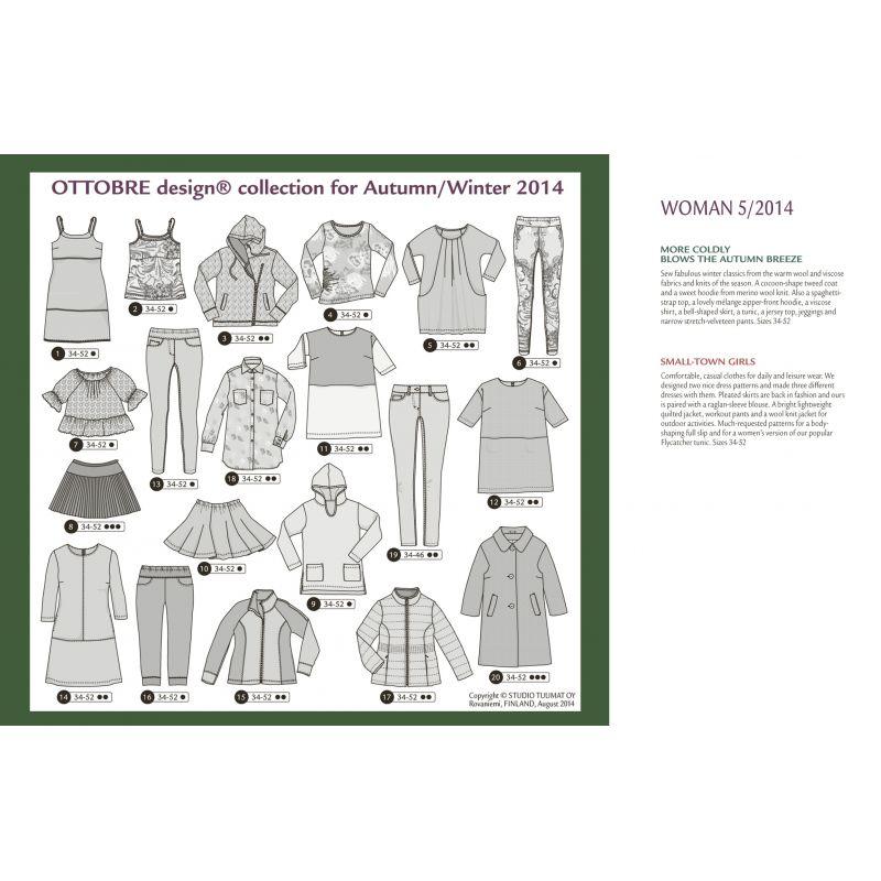 Sewing magazine Ottobre design Women - Autumn/winter 5/2014