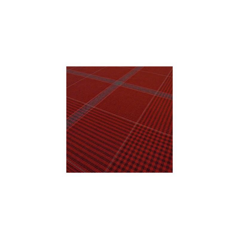Rode en blauwe ruiten Merinos wol stof