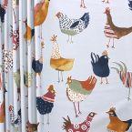 Tissu d'ameublement à motif de poules