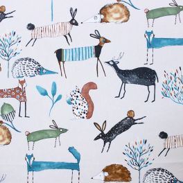Upholstery with animals of the forest