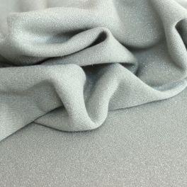Tissu sweat molletonné pailleté vert sauge