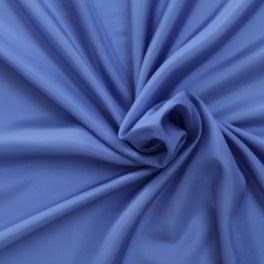 Effen zijdestof electrisch blauw