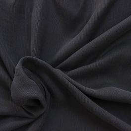 Tissu uni gris ardoise en cupro et viscose