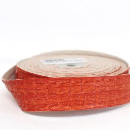 Galon simili effet croco orange
