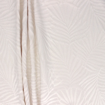 Furniture fabric jacquard with off white palm leaves