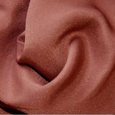 Bruine twill zijde stof