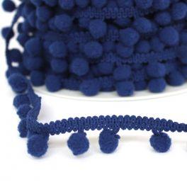 Galon à pompons bleu