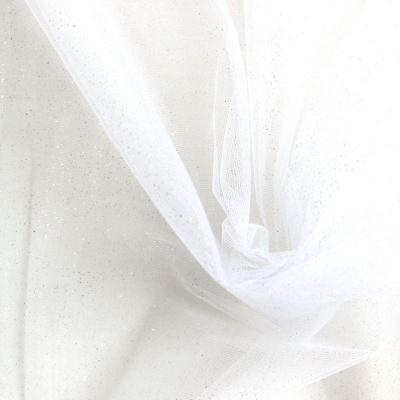 Tulle pailleté blanc