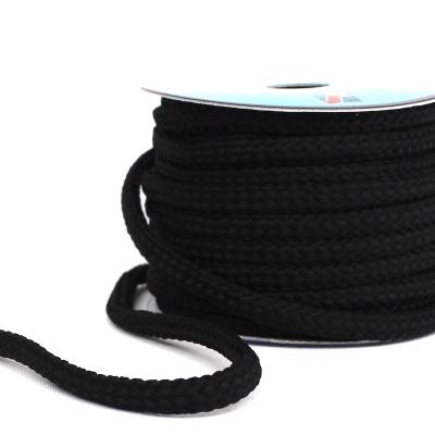 cordon tressé noir 8mm