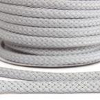cordon tressé gris perle 8mm