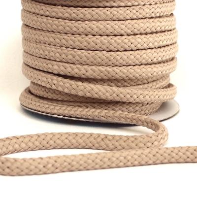 cordon tressé sable 8mm