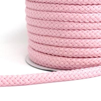 cordon tressé rose 8mm
