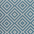 Jacquard fabric with white geometric design on a beige background