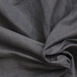 Gestreepte kledingstof antracietgrijs