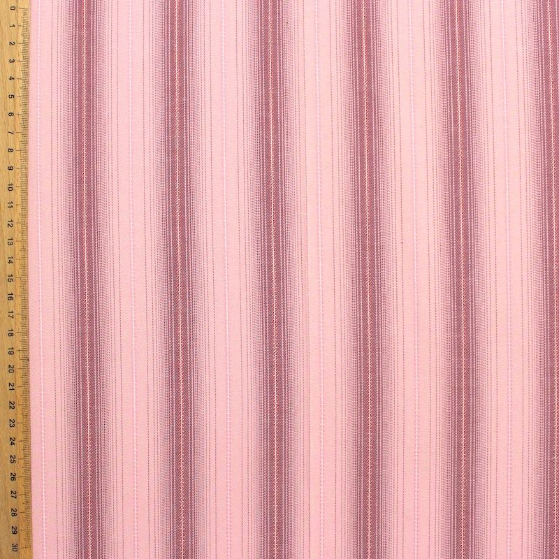 Cotton fabric with pink lines fabric