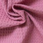 Piqué de coton gaufré nid d'abeille bois de rose