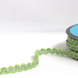 galon croquet fantaisie vert tendre