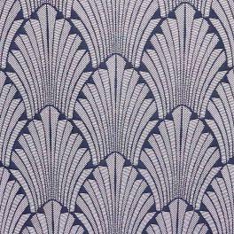 Jacquard geometrisch motief op jeansblauw achtergrond