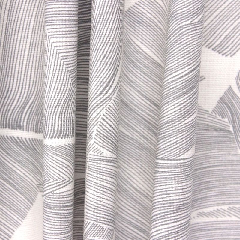 tissu d 39 ameublement feuillages exotiques gris. Black Bedroom Furniture Sets. Home Design Ideas