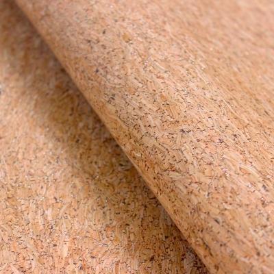 Tissu en liège naturel fine paillettes or