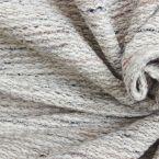 Tissu vestimentaire maille chinée beige et lurex
