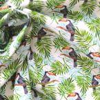 Popeline de coton imprimé toucans