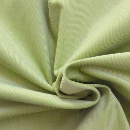 Tissu en velours côtelé vert clair