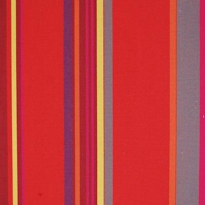 Rode, gele en grijse gestreepte dralon stof